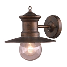 ELK Lighting 42005/1 - Maritime 1 Light Outdoor Wall Sconce In Hazlenut