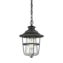 ELK Lighting 45121/1 - San Mateo 1 Light Outdoor Pendant In Textured Ma