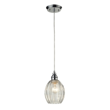 ELK Lighting 46017/1 - Danica 1 Light Pendant In Polished Chrome And Cl