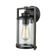 ELK Lighting 46080/1 - Frampton 1 Light Outdoor Wall Sconce In Aged Bro
