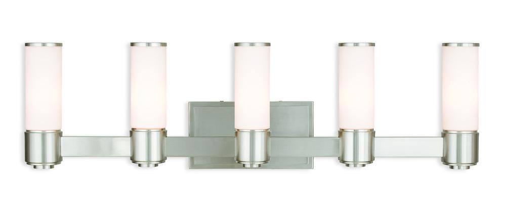 Livex Lighting 52123-91 Weston 3 BN Wall Sconce//Bath Light Brushed Nickel
