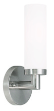 Livex Lighting 10103-91 - 1 Light Brushed Nickel Wall Sconce