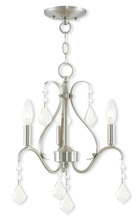 Livex Lighting 40843-91 - 3 Light Brushed Nickel Mini Chandelier