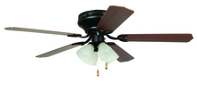 "Craftmade BRC52ORB5C - Brilliante with 4-light Kit 52"" Ceiling Fan with Blades and Light in Oil-Rubbed Bronze"
