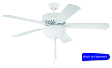"Craftmade E201W - Pro Builder 201 52"" Ceiling Fan with Light in White (Blades Sold Separately)"