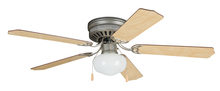 "Craftmade CC52BP5C1 - Celeste Deluxe 52"" Ceiling Fan with Blades and Light in Brushed Pewter"