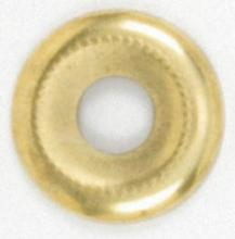 "Satco Products Inc. 90/388 - Beaded Steel Check Ring 1/8 IP Slip 1-1/8"" Brass Plated"