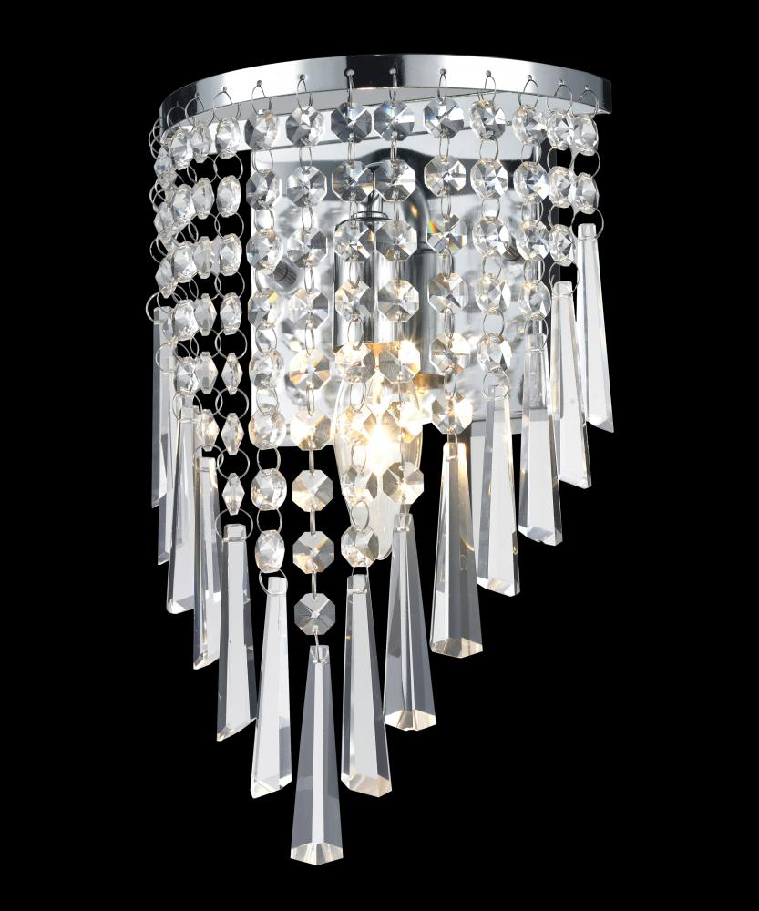 1 Light Crystal Vanity Light