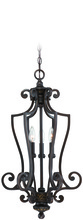 Jeremiah 28233-ABZG - Josephine 3 Light Cage Foyer in Antique Bronze/Gold Accents