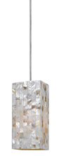 "CAL Lighting UP-1030/6-DB - 7.3"" Tall Metal Seashell Pendant In Brushed Steel"