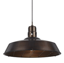 CAL Lighting UP-1112-6-RU - 150W DANBERRY METAL PENDANT