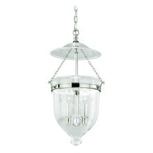 "Vaxcel International P0119 - 630 Series 12-3/4"" Pendant Polished Nickel w/Clear Glass"