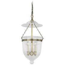 "Vaxcel International P0131 - 630 Series 12-3/4"" Pendant Antique Brass w/Clear Glass"