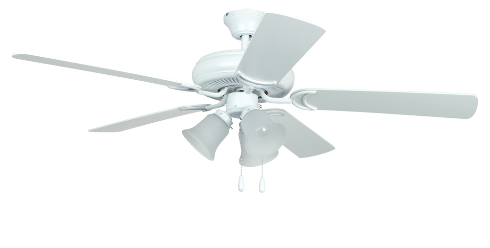 "Decorator's Choice with 3-light Kit 52"" Ceiling Fan with Blades and Light in Matte White"