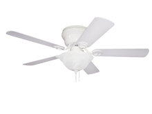 "Ellington Fan WC42WW5C1 - Wyman with Bowl Light Kit 42"" Ceiling Fan with Blades and Light in White"