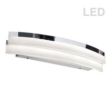 Dainolite KEP-26CW-PC - 1LT LED Curved Wall Mount, PC Finish