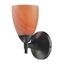 ELK Lighting 10150/1DR-SY - Celina 1 Light Sconce In Dark Rust And Sandy Gla
