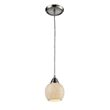 ELK Lighting 10208/1CLD-LED - Fission 1 Light LED Pendant In Satin Nickel And