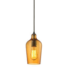 ELK Lighting 10331/1HAMB - Hammered Glass 1 Light Pendant In Oil Rubbed Bro
