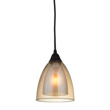 ELK Lighting 10474/1 - Layers 1 Light Pendant In Oil Rubbed Bronze And