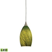 ELK Lighting 10510/1GRS-LED - Earth 1 Light LED Pendant In Satin Nickel And Gr