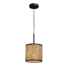ELK Lighting 31045/1 - Medina 1 Light Pendant In Aged Bronze With Amber