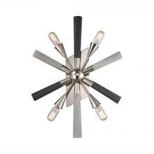 ELK Lighting 32230/4 - Solara 4-Light Wall Lamp in Polished Nickel with Washed Grey Wood-tone Spindles