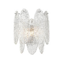 ELK Lighting 32440/2 - Frozen Cascade 2-Light Sconce in Polished Chrome with Clear Textured Glass
