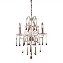 ELK Lighting 4011/3AMB - Opulence 3 Light Chandelier In Rust And Amber Cr