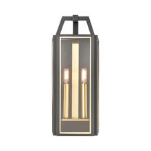 ELK Lighting 46741/2 - Portico 2-Light Sconce in Charcoal with Clear Glass