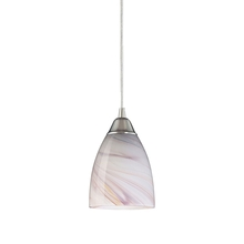 ELK Lighting 527-1CR-LED - Pierra 1 Light LED Pendant In Satin Nickel And C