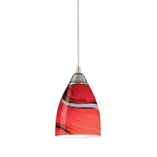 ELK Lighting 527-1CY-LED - Pierra 1 Light LED Pendant In Satin Nickel And C
