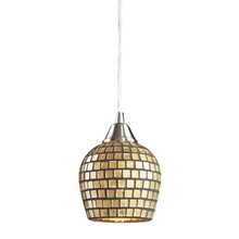 ELK Lighting 528-1GLD-LED - Fusion 1 Light LED Pendant In Satin Nickel And G