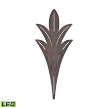 ELK Lighting 57192/LED - Palm Fronds Sconce in Bronze Rust with Laser Cut Aluminum - Integrated LED