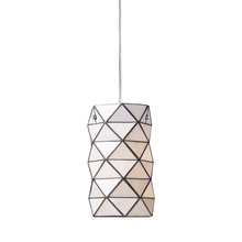 ELK Lighting 72021-1 - Tetra 1 Light Pendant In Polished Chrome And Whi
