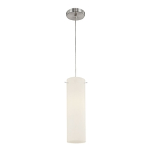 ELK Lighting PS4603-10-15 - Tubo 1 Light Pendant In Chrome And White Opal Gl